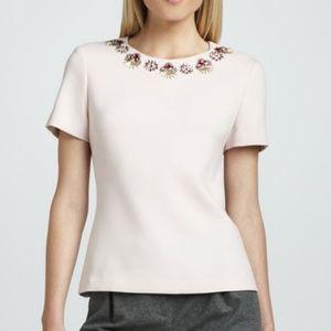 Kate Spade Pink Alexandria Embellished Jewel Top